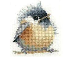 Valerie Pfeifer Chickadee Bird Cross Stitch