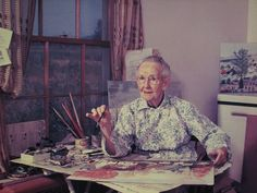grandma moses by calamity kim woman fame artist Grandma Moses, Atelier Creation, Chicken Art, What Inspires You, Naive Art, Famous Artists, Oeuvre D'art, Art Studios, Artist At Work