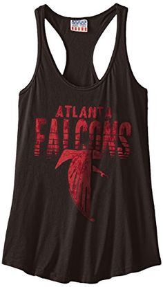 NFL Atlanta Falcons Womens Touchdown Tank Top Black Medium * Click on the image for additional details.