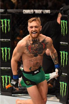 LAS VEGAS, NV - DECEMBER 12: Conor McGregor of Ireland reacts to his victory over Jose Aldo of Brazil in their UFC featherweight championship bout during the UFC 194 event inside MGM Grand Garden Arena on December 12, 2015 in Las Vegas, Nevada. (Photo by Josh Hedges/Zuffa LLC/Zuffa LLC via Getty Images) *** Local Caption *** Conor McGregor