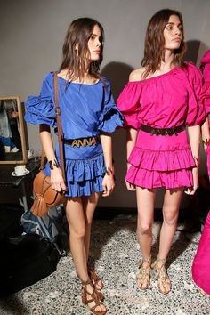 New Flamenco Flounces – Blugirl Spring Summer 2016 Fashion Show backstage #mfw