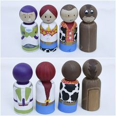 Peg People by RomaPearlDesigns on Etsy