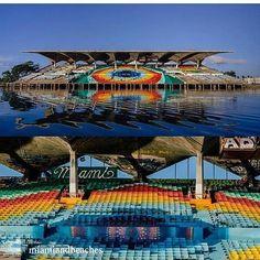 @Regrann from @miamiandbeaches -  Miami Marine Stadium a landmark and work of art. : @mysouthfloridatoday #SoMiami #Miami #ArtMiami #Regrann  Awesome photo! #mackid #mackidmiamieast #mackidnwmiami