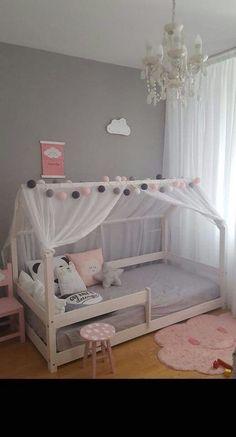 Grey and pink toddler room, sweet & simple - Nursery & Kid Decor - Kinderzimmer Baby Bedroom, Girls Bedroom, Bedroom Decor, Girl Nursery, Modern Kids Bedroom, Nursery Room, Nursery Decor, Master Bedroom, Teenage Girl Bedrooms