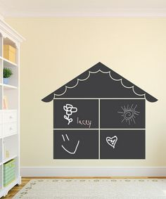 Take a look at this Chalkboard Dollhouse Wall Decal by Wallquotes.com