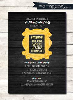 FRIENDS TV Show Invitation Friends Party by LittlePebblePaper