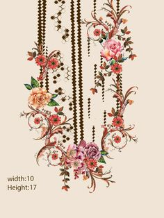 Embroded necklines on Behance Textile Pattern Design, Floral Pattern Vector, Border Embroidery Designs, Embroidery Patterns, Egypt Jewelry, Spider Art, Paisley Art, Baroque Decor, Stencil Painting On Walls
