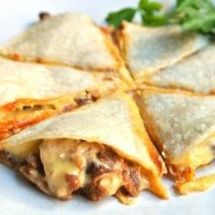Cheesy Bean Chicken Quesadillas