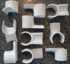 """1"""" Snap On Jump Cups Set of 12 for DIY Dog Agility Equipment"""