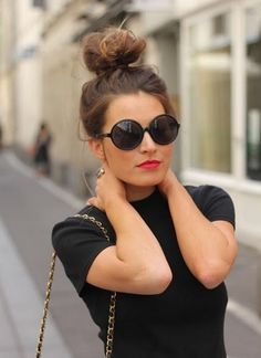 Rock a topknot! 14 Fashion Tips And Tricks To Make You Look Taller