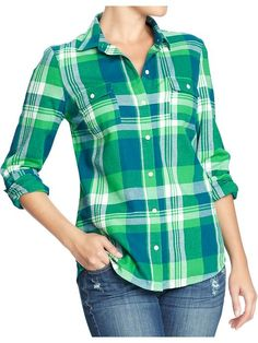 Women's Plaid Flannel Shirts Product Image
