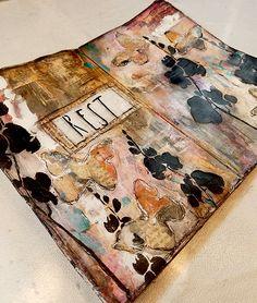 New art journal techniques coffee mixed media Ideas Art Journal Pages, Artist Journal, Art Journaling, Art Journal Backgrounds, Junk Journal, Kunstjournal Inspiration, Art Journal Inspiration, Plan Image, Art Simple