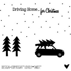 € 35,00 Raamsticker Zwart XXL Driving Home for Christmas Mini Cooper