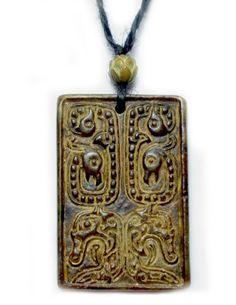 Mutter der Feuerdrachen Geschnitzte Dunkelrot Jade Amulett Talisman Halskette- Fortune-Feng Shui Schmuck von Imperial-Jade Kollektion, http://www.amazon.de/dp/B00DGA5OLQ/ref=cm_sw_r_pi_dp_fkYosb117XCHA