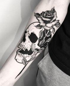 Satanic Tattoos, Wiccan Tattoos, Skull Rose Tattoos, Black Tattoos, Unique Tattoos, Cute Tattoos, Tatoos, Underarm Tattoo, Ink Master Tattoos