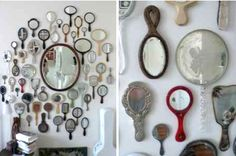 collection of hand mirrors. #collection, #decorative, #mirror, #mirrors