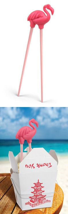 Flamingo chopsticks! Fun! #productdesign