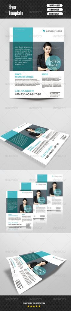 Busines Flayer Template ...  business, clean, corporate, creative, design, flyer, fresh, printed, psd, template