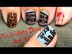 The Walking Dead Nail Art (Halloween Nails)