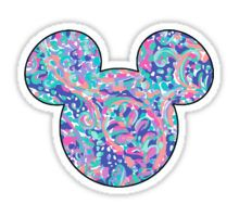 Lilly Pulitzer Inspired Mouse Ears La Playa Sticker