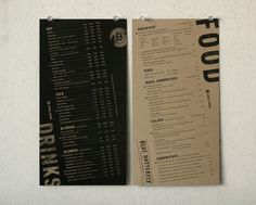 the slanted design is interesting but the menu itself is not and appears out of place alongside the dynamic titles. there should be some ore play with the direction and layout. Coffee Menu, Coffee Poster, Coffee Cafe, Starbucks Coffee, Coffee Shop, Restaurant Menu Design, Restaurant Branding, Restaurant Restaurant, Menu Layout