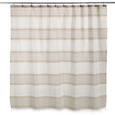 Caro Home Porto Stripe Shower Curtain Bedbathandbeyond Com