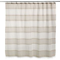 Style Lounge Shower Curtain. Caro Home Porto Stripe Shower Curtain  www BedBathandBeyond com Style Lounge Landon Yarn Dyed Woven Blue