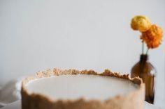 coconut almond custard tart