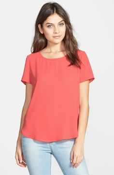 Pleione Pleat Back Woven Print Top (Regular & Petite) available at #Nordstrom