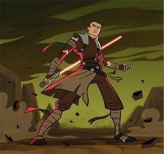 Samuel Deats - The Apprentice Starkiller, protoganist of the video game Star Wars: The Force Unleashed in the style of Genndy Tartakovsky's animation series Clone Wars Star Wars Fan Art, Star Wars Concept Art, Star Wars Games, Star Wars Clone Wars, Galen Marek, Cartoon Design, Star Wars Characters, Character Design References, Anime