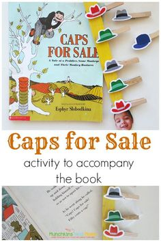 """Super cute activity to go along with the preschool book """"Caps for Sale""""!"""