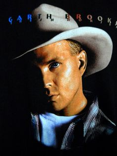Garth Brooks Tee Shirt 1995 Fresh Horses Tour Black Country Music Cities Face #Hanes #ShortSleeve