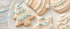 A Christmas classic! Royal icing is piped onto tender butter cookies for a timeless treat.