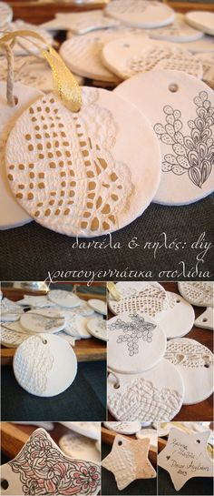 diy Christmas clay ornaments