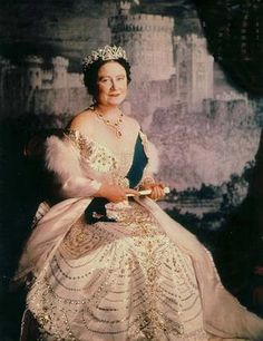 The Queen Mother wearing the Oriental Circlet Tiara
