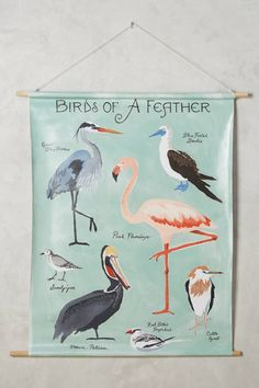 Slide View: 1: Birds Of A Feather Tapestry Wall Art