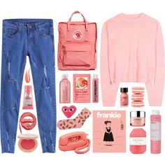 Pink Fire by dana-rachel on Polyvore featuring Acne Studios, Fjällräven, Soap & Glory, Perricone MD, Hourglass Cosmetics, Korres, H&M, Clinique, Pelle and Avon