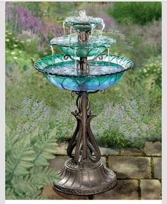 A water fountain made from old light...""