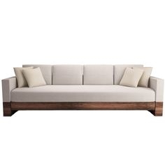 Get the Look: The Harmonization of Function and Style in the Living Room. Modern wood framed sofa from Grade. Full look here: http://www.deringhall.com/daily-features/contributors/dering-hall/get-the-look-the-harmonization-of-function-and-style-in-the-living-room?category=get-the-look