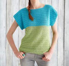 Colorblock Top by Yarnspirations Crochet Sweater Kit