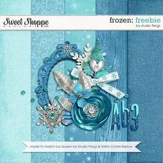 Quality DigiScrap Freebies: Frozen mini kit freebie from Studio Flergs