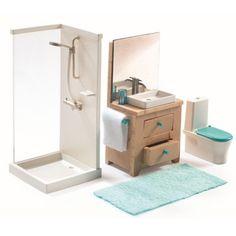 Accessoire maison de poupées : La salle de bain - Djeco-07824