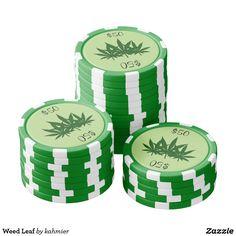 Weed Leaf Poker Chip