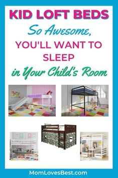 There's something about loft beds that appeal to children. And some of them are so amazing, you'll be jealous that their bedroom is cooler than yours. #cribs #cribbedding #swaddling #swaddle #swaddleblanket #bassinet #babysleep #babysleeptips #babysleepschedule #babysleeptraining Baby Sleep Schedule, Childrens Artwork, Toddler Sleep, Loft Beds, Sleeping Through The Night, Bedtime Routine, Moving House, Kid Beds, Crib Bedding