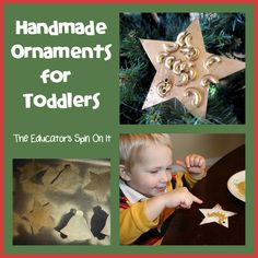 Tot School -Books, Shirt and Easy Handmade Ornaments for Toddlers by The Educators' Spin On It