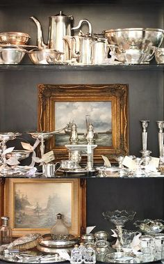 silver and vintage paintings...