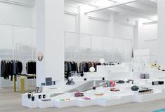 The 'white cube' space of the Andreas Murkudis concept store Berlin.