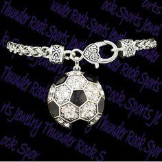 Crystal Soccer Bracelet Team Colors Spirit by MyTeamSpiritJewelry, $10.00