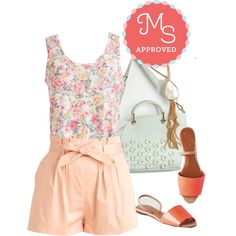 Daytime Dance Party Top by modcloth on Polyvore featuring Summer, outfit, floral and modcloth