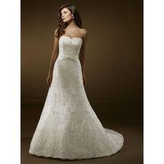 Sweetheart A Line Lace Wedding Dress